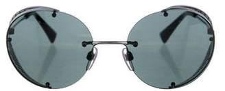 Valentino Rimless Round Sunglasses