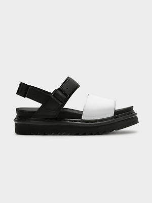 Dr. Martens New Womens Yelena Sandals In Black White Womens
