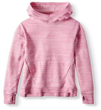 Athletic Works Athleisure Marled Pullover Hoodie (Little Girls & Big Girls)