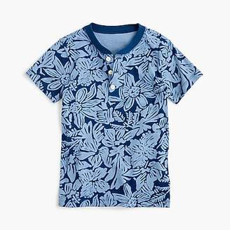 J.Crew Boys' short-sleeve henley shirt in tropical print