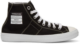Maison Margiela Black Canvas Stereotype High-Top Sneakers