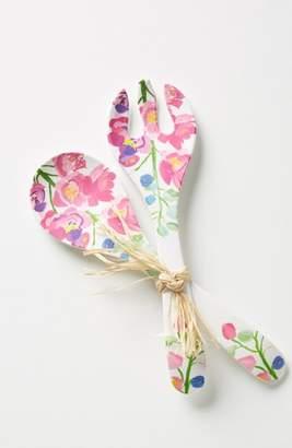 Anthropologie Paint + Petals Melamine Two-Piece Serving Set