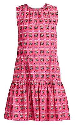 Kenzo Women's Printed Sleeveless Cotton Flare Dress