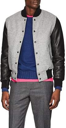 Barneys New York Golden Bear x Men's Wool & Leather Varsity Jacket