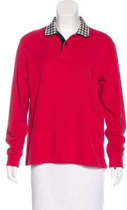 Aquascutum London Long Sleeve Polo Top