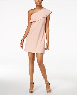 Julia Jordan One-Shoulder Ruffled Dress $98 thestylecure.com