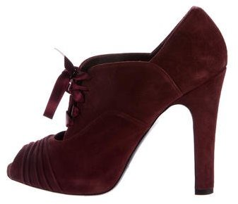 Ralph Lauren Collection Suede Lace-Up Booties