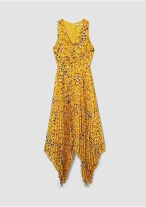 Derek Lam 10 Crosby Sleeveless V-Neck Dress With Pleated Skirt