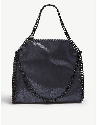 Stella McCartney Navy Blue and Black Mini Baby Bella Metallic Tote Bag