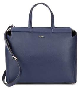 Furla Talia Textured Leather Satchel