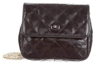 Chanel Quilted Lizard Shoulder Bag