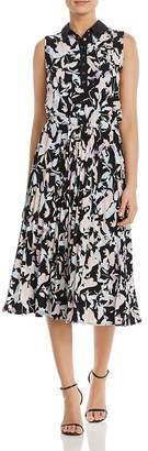 DKNY Floral-Print Midi Dress