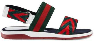 Gucci Children's Chevron leather sandal