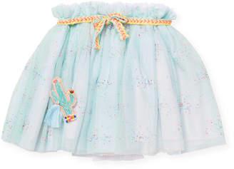 Billieblush Mesh Ruffle Skirt