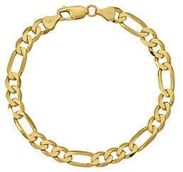 "QVC 14K Gold 8"" Figaro Link Bracelet, 12.5g"