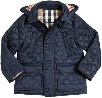 Burberry Quilted Nylon Hooded Jacket