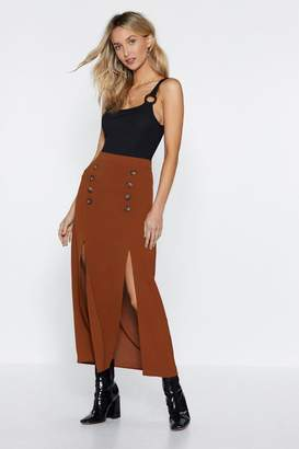 Nasty Gal Seeing Double Midi Skirt