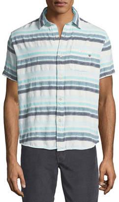 Sol Angeles Pool Stripe Short-Sleeve Sport Shirt