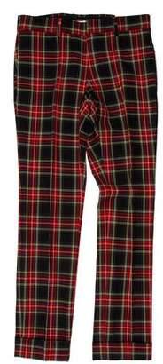 Gucci Tartan Wool Pants