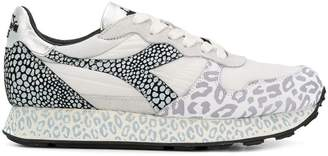 Diadora leopard print panelled sneakers