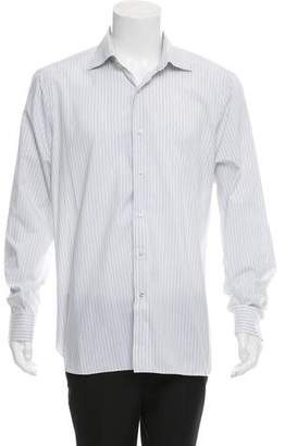 Isaia Striped Button-Up Shirt