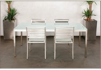 Mercy Dining Table Finish: Sapphire White Glass