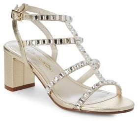 Caparros Embellished Strappy Leather Sandals