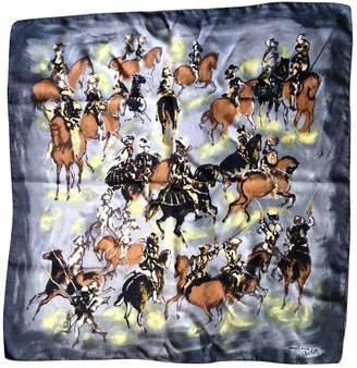 Lanvin Vintage Grey Silk Silk handkerchief