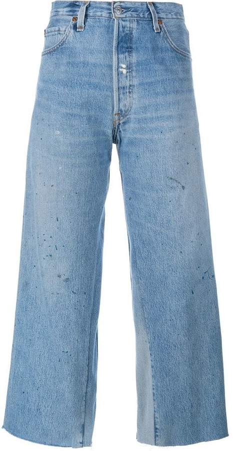 Re/Done Levi's cropped flared jeans