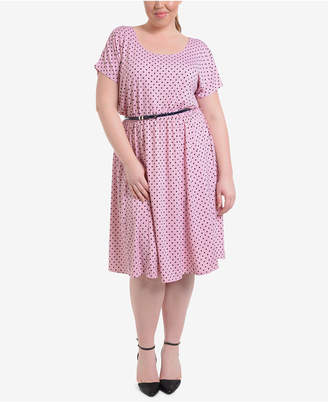 Plus Size Polka Dot Dress Shopstyle