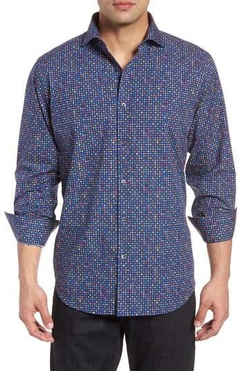 Happy Dots Classic Fit Sport Shirt
