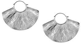 Jessica Simpson Shimmering Oasis Silvertone Wave Earrings