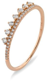 Women's Bony Levy 'Princess Crown' Stackable Diamond Ring (Nordstrom Exclusive) $895 thestylecure.com