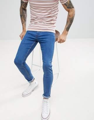 Lee Malone Power Stretch Buzz Blue Super Skinny Jean