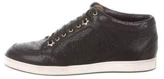 Jimmy Choo Miami Glitter High-Top Sneakers Black Miami Glitter High-Top Sneakers