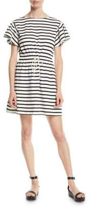 Kate Spade Drop-Shoulder Striped Dress