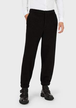 Emporio Armani Boucle Jersey Trousers With Elasticated Cuffs