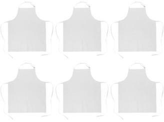 """Dii DII White Bulk Chef Apron (Set of 6), 33x28"""", 100% Cotton"""