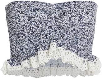 Nightcap Clothing Indigo Smocked Bandeau Top