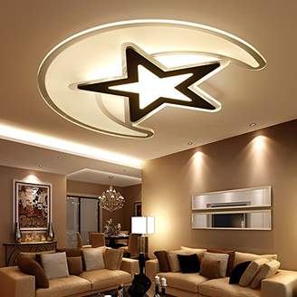 STUDY TDLC Acrylic ceiling light _ modern minimalist room children led light modern bedroom living room lamps slim acrylic star, that is, the White, warm ,500*45(38W)