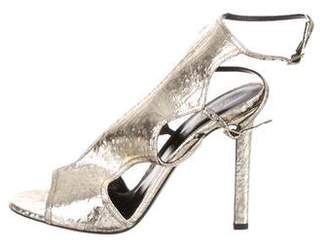 Tamara Mellon Metallic Leather Sandals