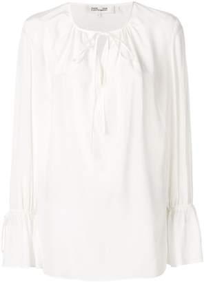 Diane von Furstenberg tie detail blouse