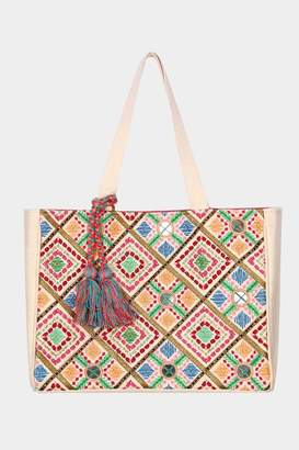 Embellish Embroidered Tote