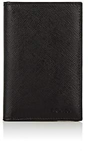 Prada Men's Folding Card Case-Black