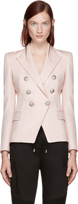 Balmain Pink Double-Breasted Blazer $2,325 thestylecure.com