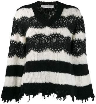 Philosophy di Lorenzo Serafini striped sweater