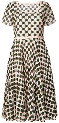 Fendi geometric print flared dress