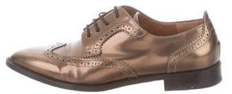 Aquatalia Pointed-Toe Brogue Oxfords