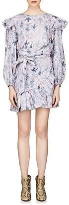 Etoile Isabel Marant Women's Telicia Floral Linen Wrap Dress - Pink