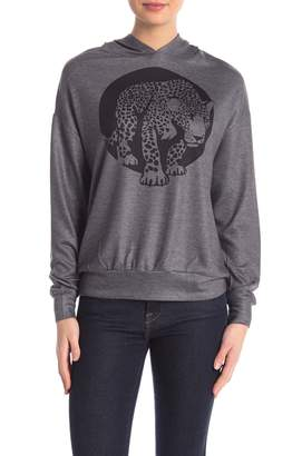 Couture Go Printed Dolman Knit Pullover Hoodie